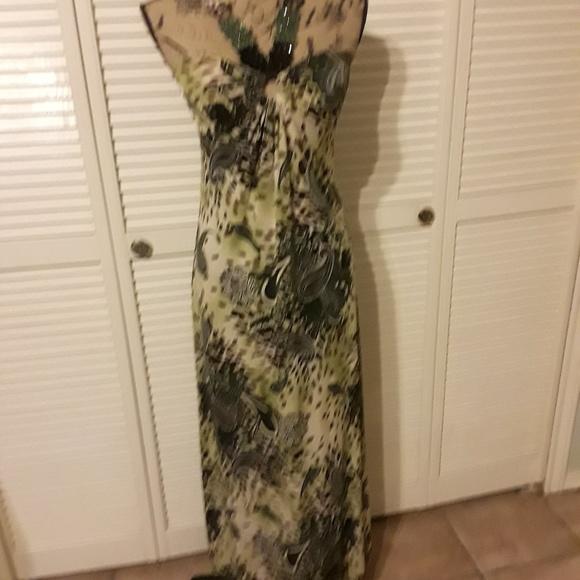 Fresh of LA Dresses & Skirts - Fresh of LA, Green Maxi Beaded dress